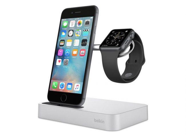 belkin valet ladestation f r apple watch iphone silber. Black Bedroom Furniture Sets. Home Design Ideas