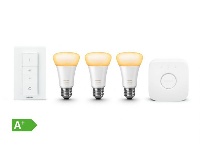 Philips Hue White Ambiance, Starter Set E27, Bridge & Dimmschalter