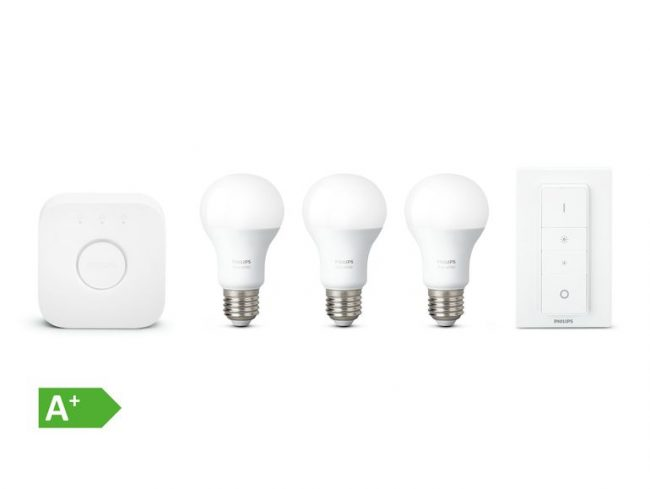 Philips Hue White, Starter Set E27, Bridge & Dimmschalter