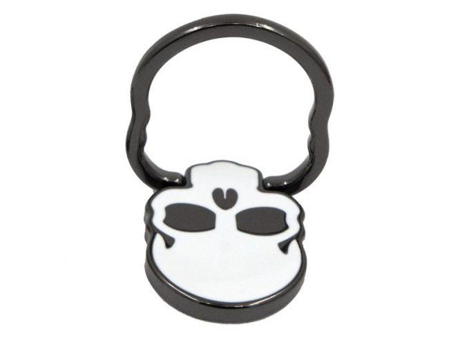 Networx Ringo Totenkopf, Ringhalterung für iPhone, schwarz/weiß