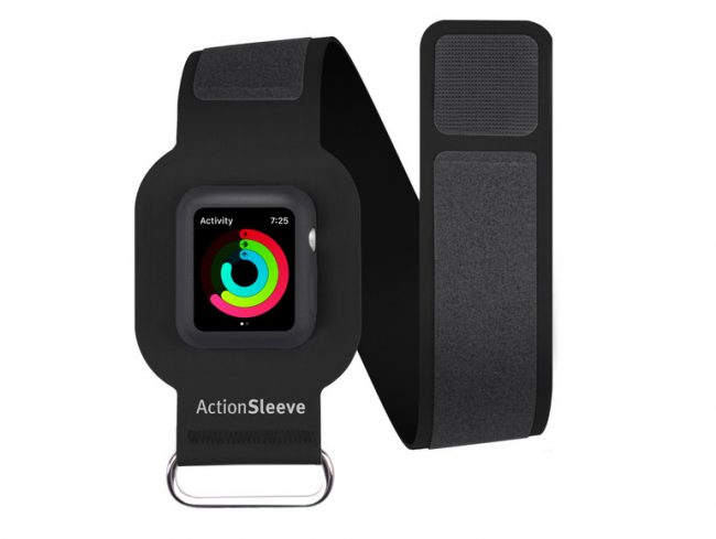 Twelve South ActionSleeve, Armband für Apple Watch 42 mm, Neopren, schwarz