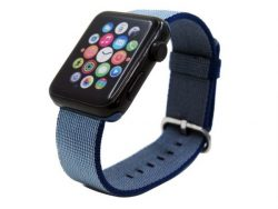 Networx Armband, für Apple Watch 42mm, Nylon, blau