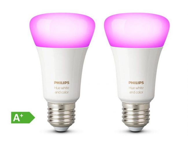 Philips Hue White & Color Ambiance, 2x E27 LED, für Hue Lichtsystem