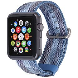 StilGut Nylon Armband für Apple Watch Serie 1-3 42mm blau