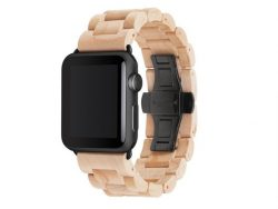 Woodcessories EcoStrap, Armband für Apple Watch 42 mm, Holz, spacegrau-ahorn