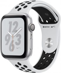 Apple Nike+ Series 4 GPS, Aluminiumgehäuse mit Nike Sportarmband 44mm Watch (watchOS 5)