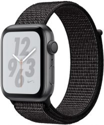 Apple Nike+ Series 4 GPS, Aluminiumgehäuse mit Nike Sportarmband Loop 44mm Watch (watchOS 5)