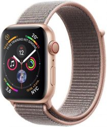 Apple Series 4 GPS, Aluminiumgehäuse mit Sportarmband Loop 40mm Watch (watchOS 5)