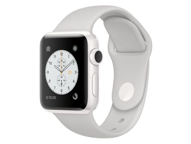 Apple Watch Edition, 38 mm Keramikgehäuse weiß, Sportarmband Wolke, 2016