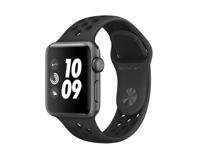 Apple Watch Nike+, 38 mm, Aluminium space grau, Sportarmband anthr/blk, 2017