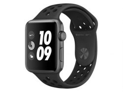 Apple Watch Nike+, 42 mm, Aluminium space grau, Sportarmband anthr/blk, 2017