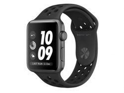 Apple Watch Nike+, 42 mm, Aluminiumgehäuse spacegrau, Sportband schwarz (2016)