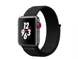 Apple Watch Nike+, GPS & Cellular 38 mm Alu. spacegrau, Sport Loop schwarz,2017