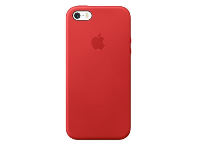 Apple iPhone 5/5s/SE Leder Case, (PRODUCT) RED, rot