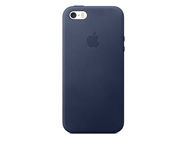 Apple iPhone 5/5s/SE Leder Case, mitternachtsblau
