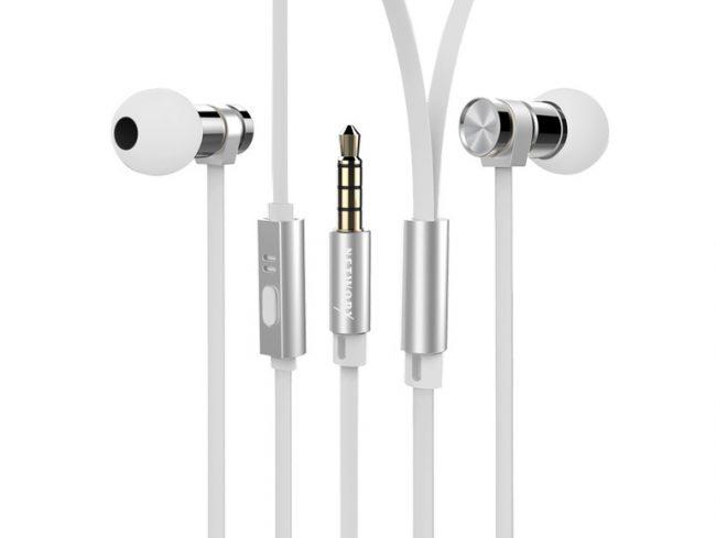 Networx HEAVY METAL, In-Ear-Headset, Edelstahl, weiß
