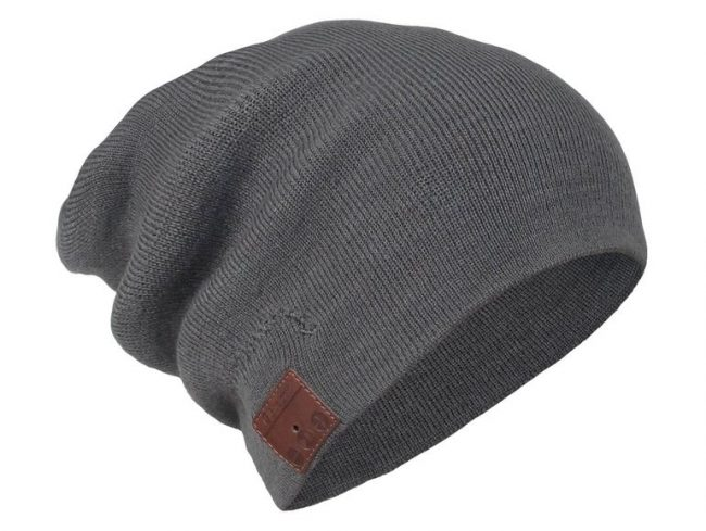 Networx Jersey Beanie, Mütze mit Bluetooth-Headset, Bluetooth 4.1, grau