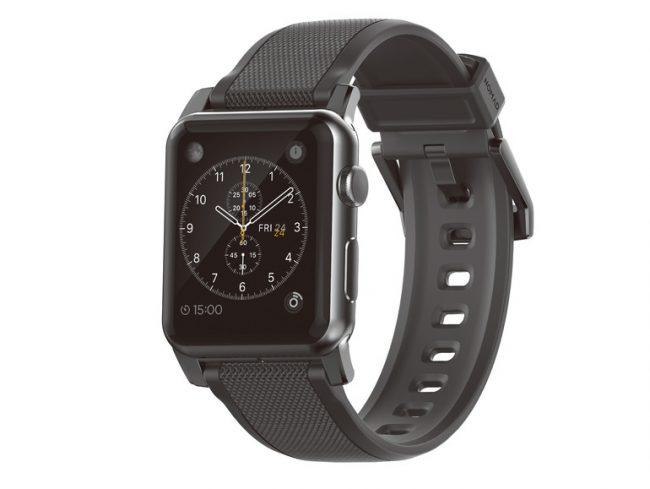 Nomad Silicone Strap, Armband für Apple Watch 42 mm, schwarz